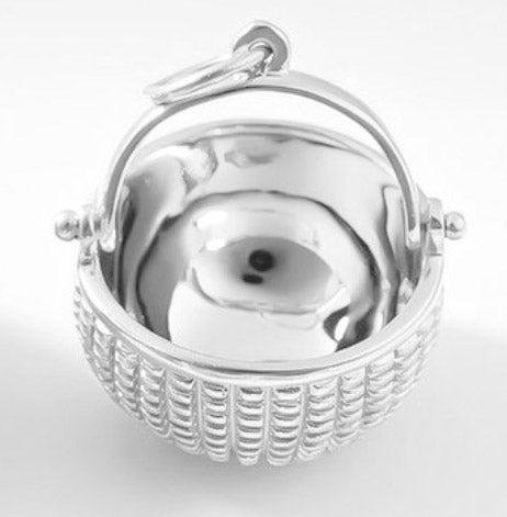 Sterling Silver Nest Open Basket 3/4