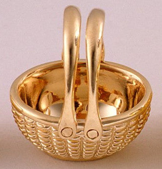 14k Oval Open Basket 5/8