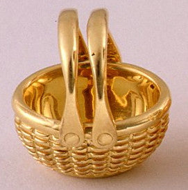 14k Oval Open Basket 1/2