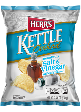 HERR'S BOARDWALK SALT & VINEGAR KETTLE CHIPS 170G