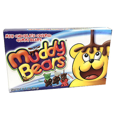 MUDDY BEARS - MILK CHOCOLATE COVERED GUMMY BEARS 88G