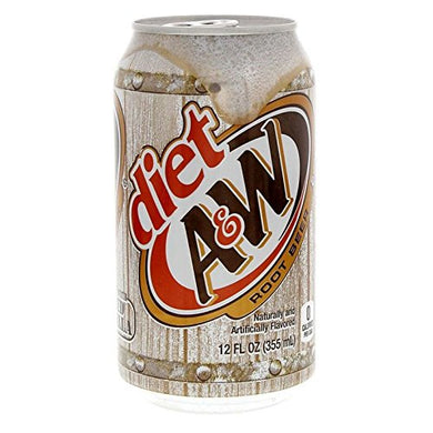 A&W ROOT BEER DIET 355ML CAN - 12 PACK