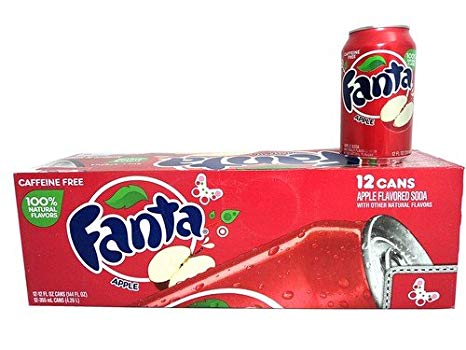 FANTA APPLE SODA 355ML - SINGLE & 12 PACK