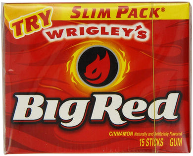 WRIGLEY BIG RED CHEWING GUM - 15 STICK - 36G