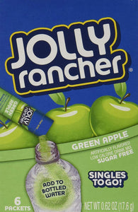 JOLLY RANCHER GREEN APPLE SINGLES TO GO 6 SACHET DRINK MIX 17.6G