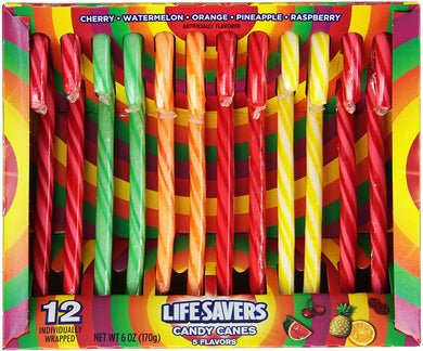 LIFESAVERS CANDY CANES 12 CT