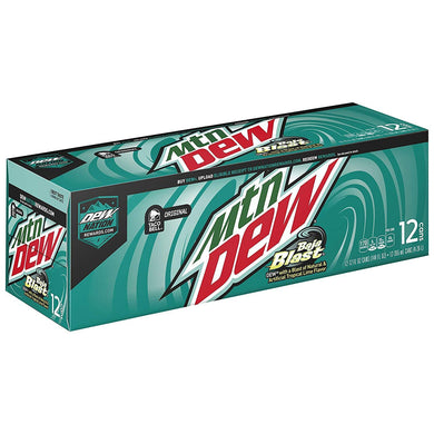 MOUNTAIN DEW BAJA BLAST 355ML - SINGLE CAN OR PACK OF 12