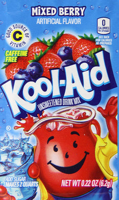KOOL AID MIXED BERRY FLAVOUR DRINK SACHETS - 6.2G