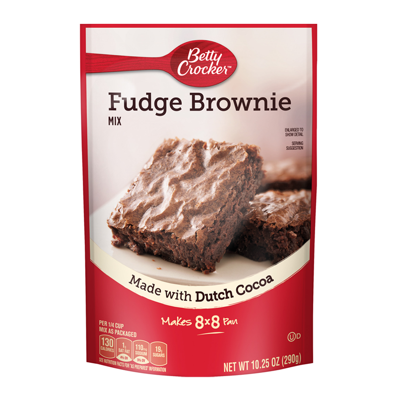 BETTY CROCKER FUDGE BROWNIE MIX POUCH 290G