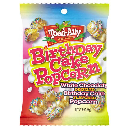 TOAD-ALLY BIRTHDAY CAKE POPCORN BAG 85G