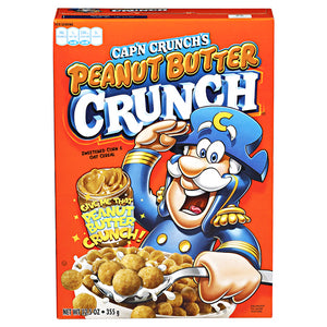 QUAKER CAPTAIN CRUNCH PEANUT BUTTER CEREAL 12.5OZ