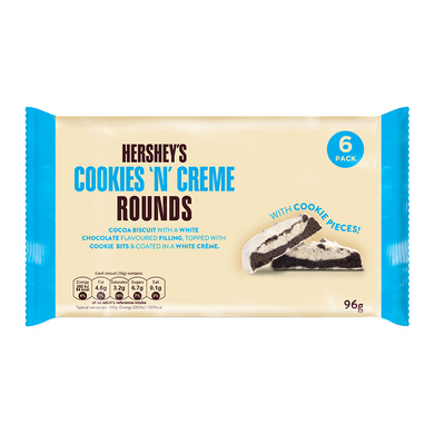 HERSHEY'S COOKIES 'N' CREME ROUNDS 96G