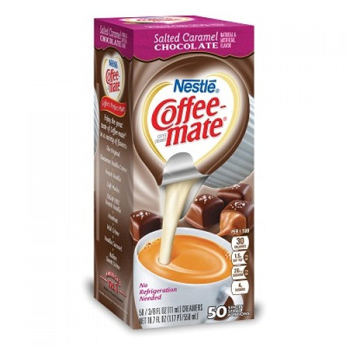 COFFEE MATE SALTED CARAMEL CHOCOLATE - 50 LIQUID CREAMER SINGLES