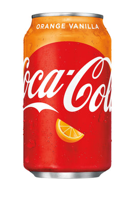 COCA COLA ORANGE VANILLA - SINGLE CAN & 12 PACK