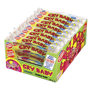 CRY BABY EXTRA SOUR BUBBLE GUM BOX OF 36