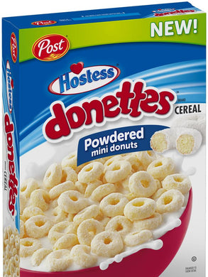 POST HOSTESS DONETTES MINI POWDERED DONUTS CEREAL 311G