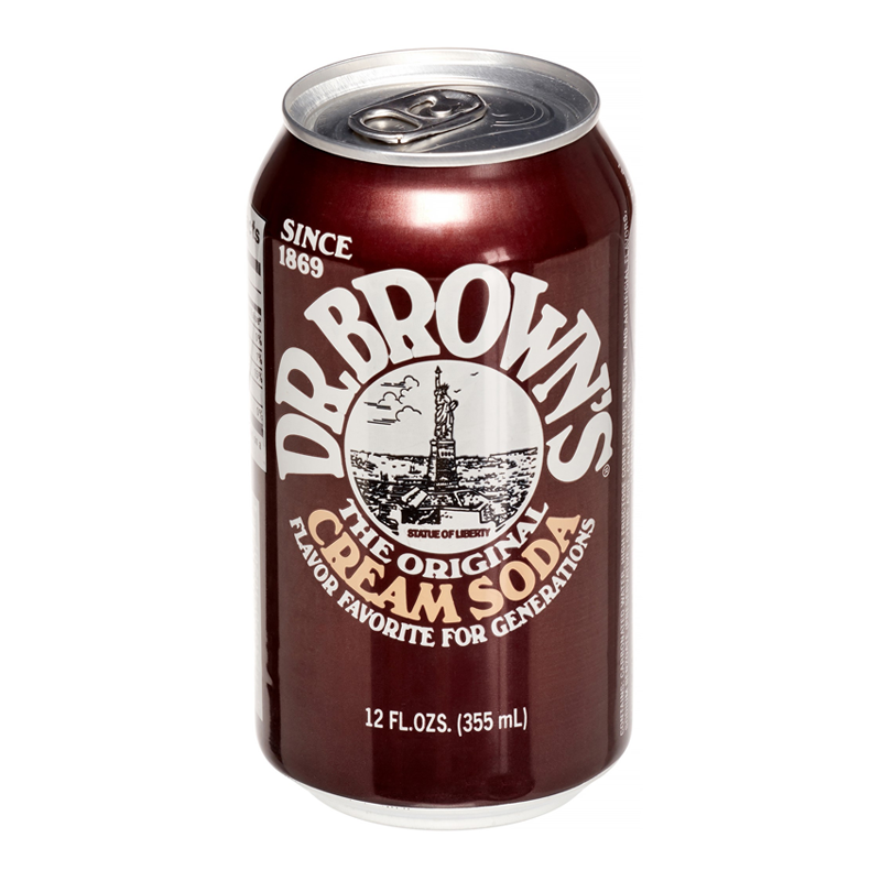 DR BROWN'S CREAM SODA 355ML - SINGLE CAN