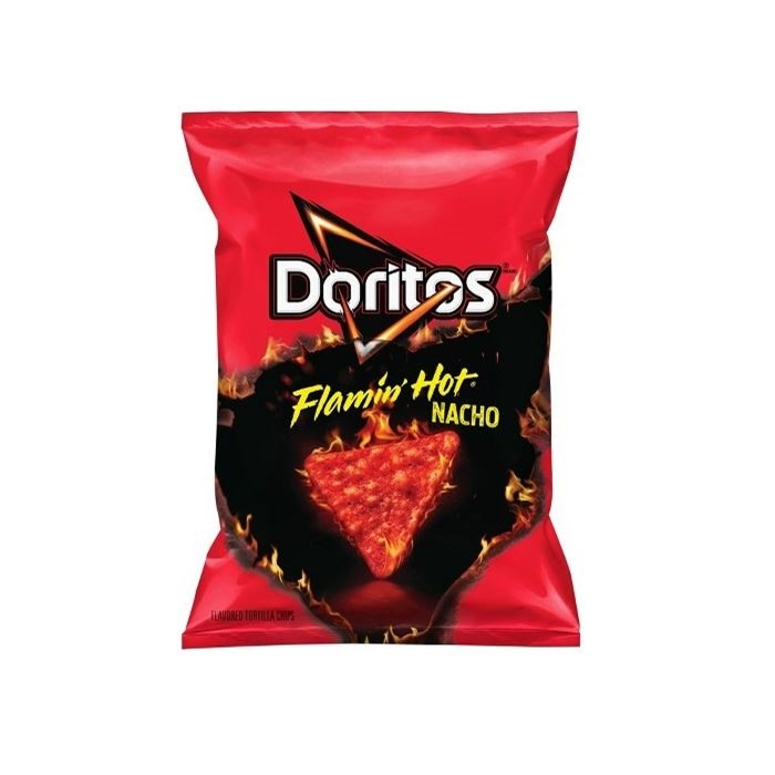 FRITO LAYS FLAMIN HOT NACHO DORITOS 49G
