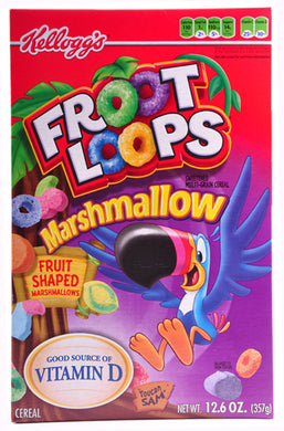 KELLOGS FRUIT LOOPS WITH MARSHMALLOWS CEREAL 357G