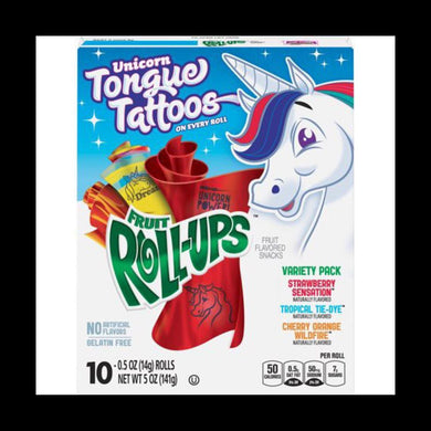 FRUIT ROLL-UPS UNICORN TONGUE TATTOOS