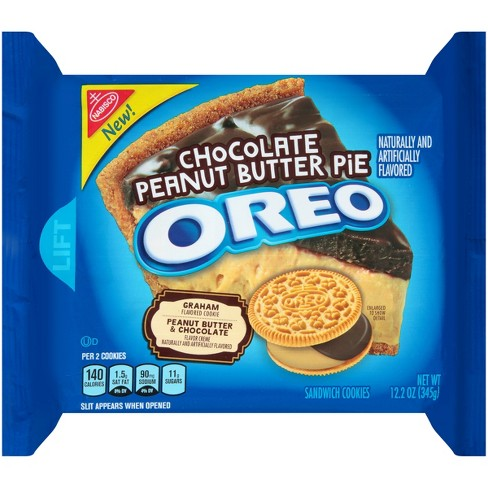 OREO CHOCOLATE PEANUT BUTTER PIE COOKIES 345G