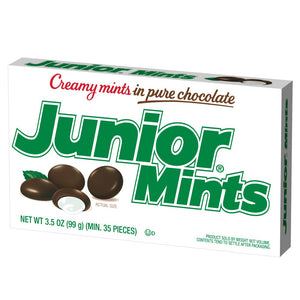 JUNIOR MINTS THEATER BOX CREAMY MINTS IN PURE CHOCOLATE 99G