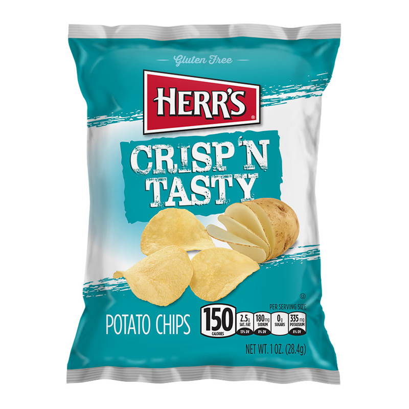HERR'S CRISP N TASTY POTATO CHIPS 28G