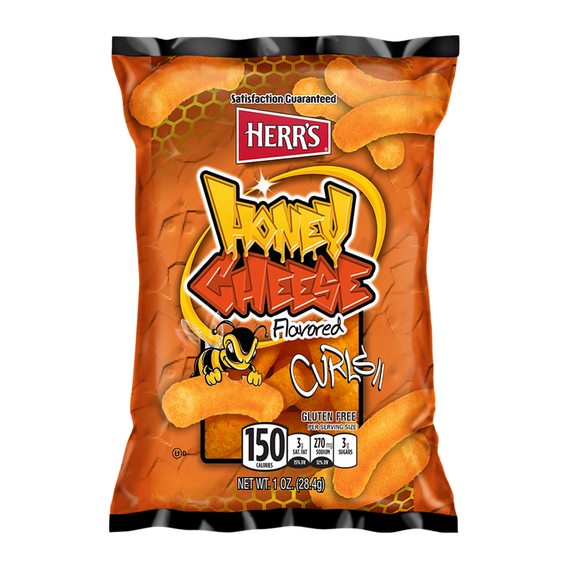 HERR'S HONEY CHEESE CURLS 1OZ (28G)