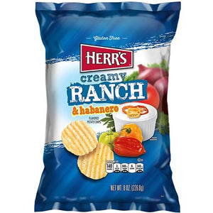 HERR'S RANCH & HABANERO POTATO CHIPS 184G