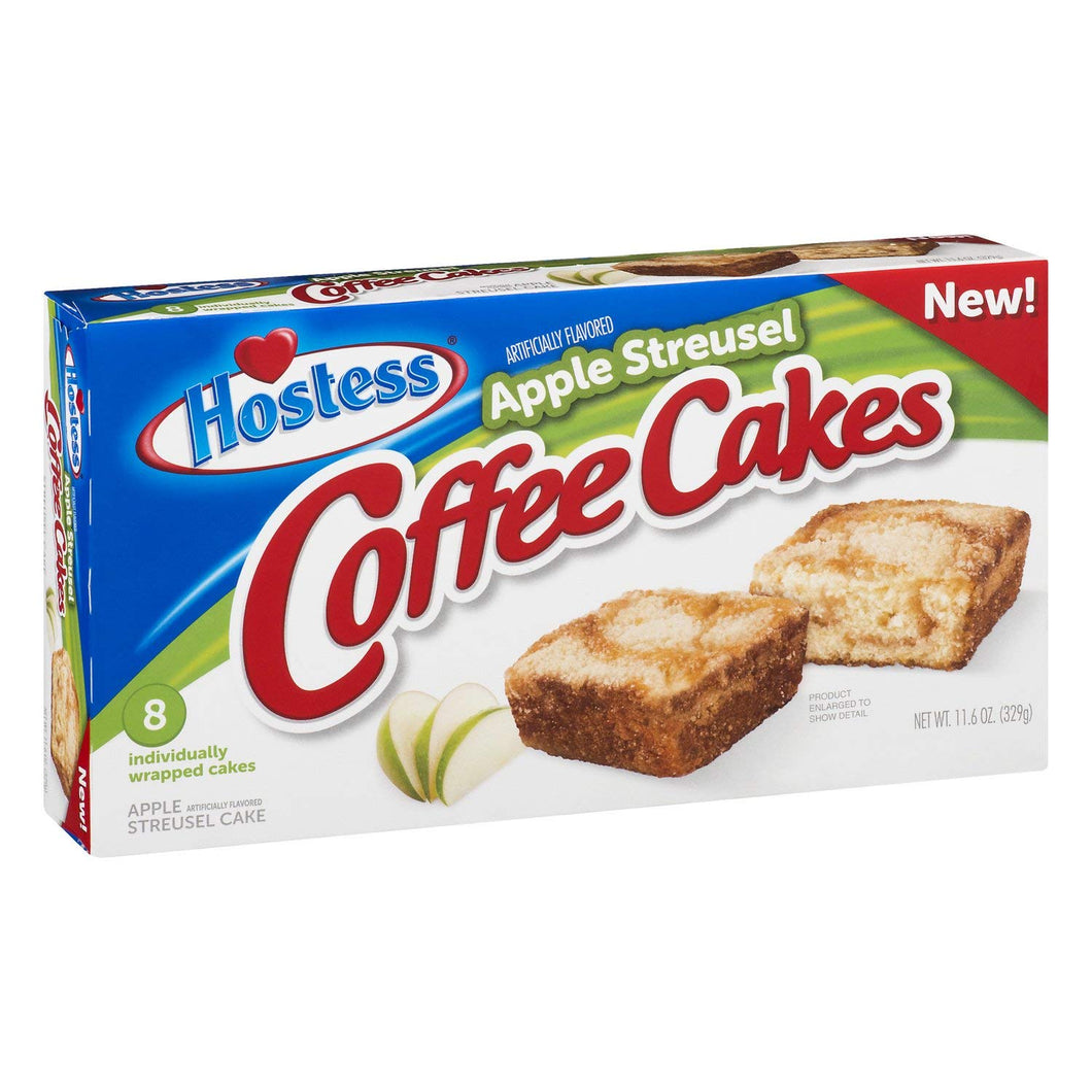 HOSTESS APPLE STREUSEL COFFEE CAKE BOX OF 8