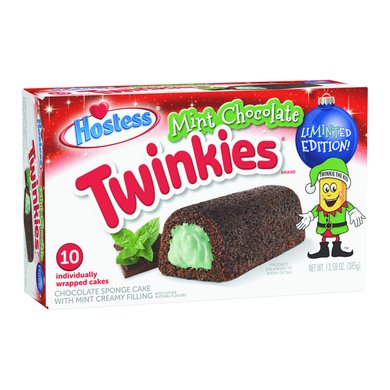 HOSTESS MINT CHOCOLATE TWINKIES 10 PACK