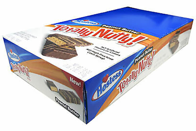 HOSTESS TOTALLY NUTTY PEANUT BUTTER WAFER BOX OF 6 BARS
