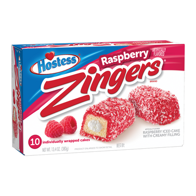 HOSTESS RASPBERRY ZINGERS BOX OF 10