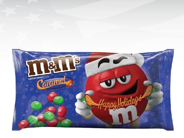 M&M's CARAMEL LARGE HOLIDAY SHARE BAG 270G