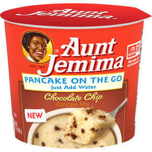 AUNT JEMIMA PANCAKE ON THE GO CHOCOLATE CHIP MIX POT