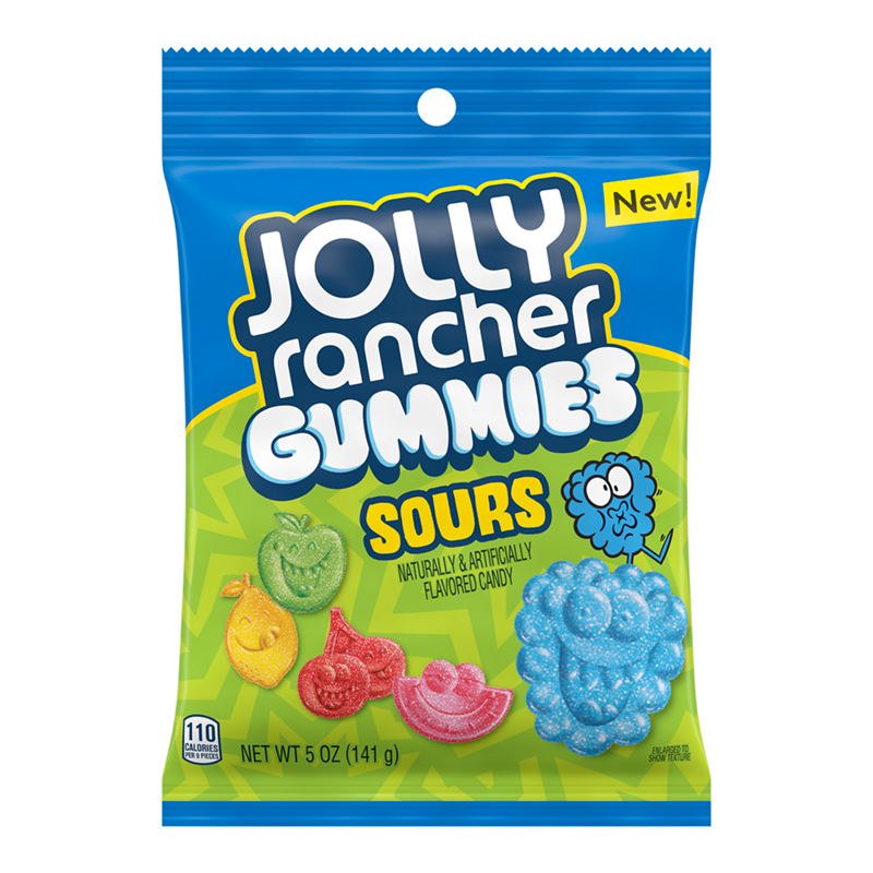 JOLLY RANCHER SOUR GUMMIES PEG BAG 142G