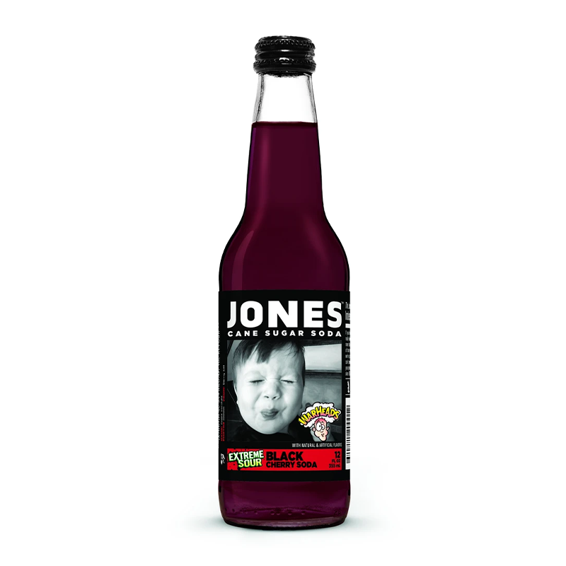 JONES SODA WARHEADS SOUR BLACK CHERRY 355ML
