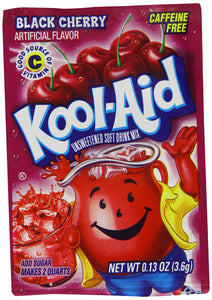KOOL AID BLACK CHERRY FLAVOUR DRINK SACHETS - 3.6G