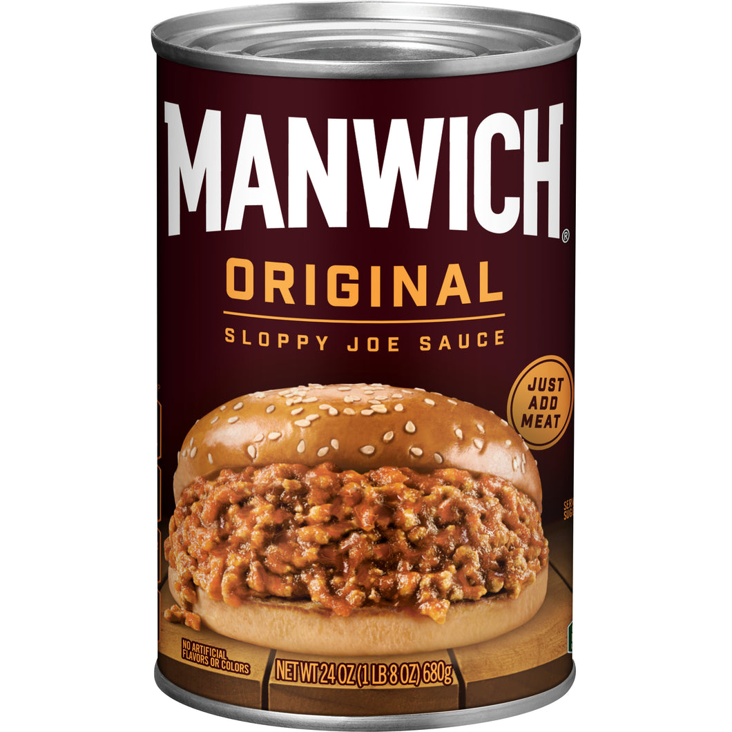 HUNT'S MANWICH SLOPPY JOE SAUCE 24 OZ BIG TIN