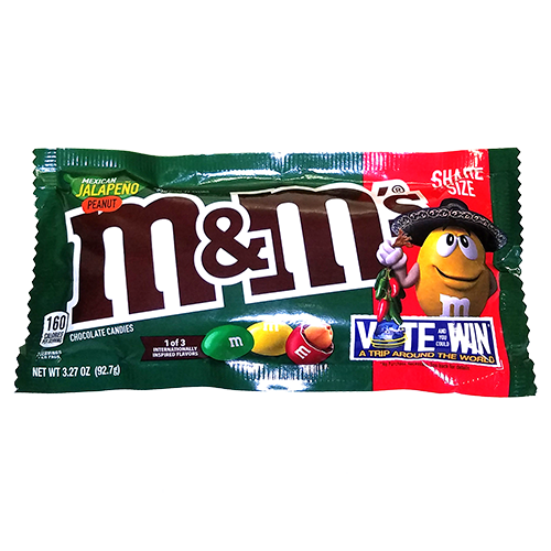M&M'S MEXICAN JALAPENO PEANUT CHOCOLATE 92.7