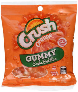 KENNYS ORANGE CRUSH GUMMY SODA BOTTLES 127G