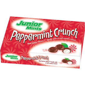 JUNIOR MINTS PEPPERMINT CRUNCH 99G BOX
