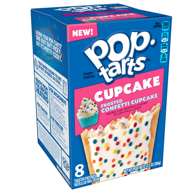 POP TARTS FROSTED CONFETTI CUPCAKE - BOX OF 8