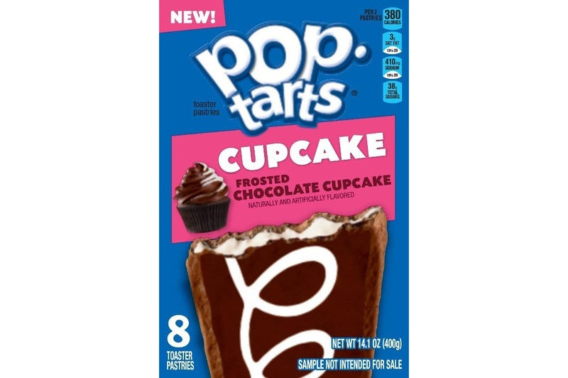POP TARTS FROSTED CHOCOLATE CUPCAKE - BOX OF 8
