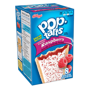 POP TARTS FROSTED RASPBERRY BOX OF 8