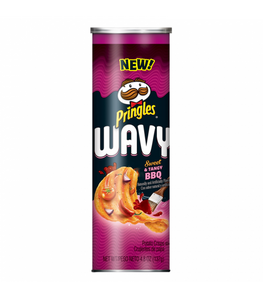 PRINGLES WAVY SWEET & TANGY BBQ