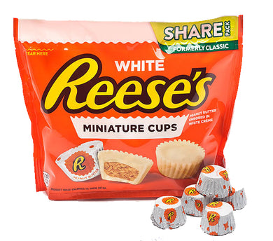 REESES WHITE MINIATURE CUPS SHARE SIZE 297G