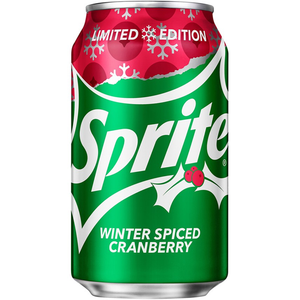 SPRITE WINTER SPICED CRANBERRY SODA 355ML SINGLE OR 12 PACK