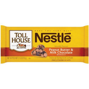 TOLL HOUSE MILK CHOCOLATE & PEANUT BUTTER BAKING CHIPS