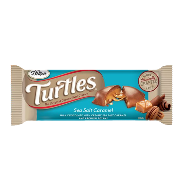 DEMET'S TURTLES SEA SALT CARAMEL KING SIZE 1.76OZ